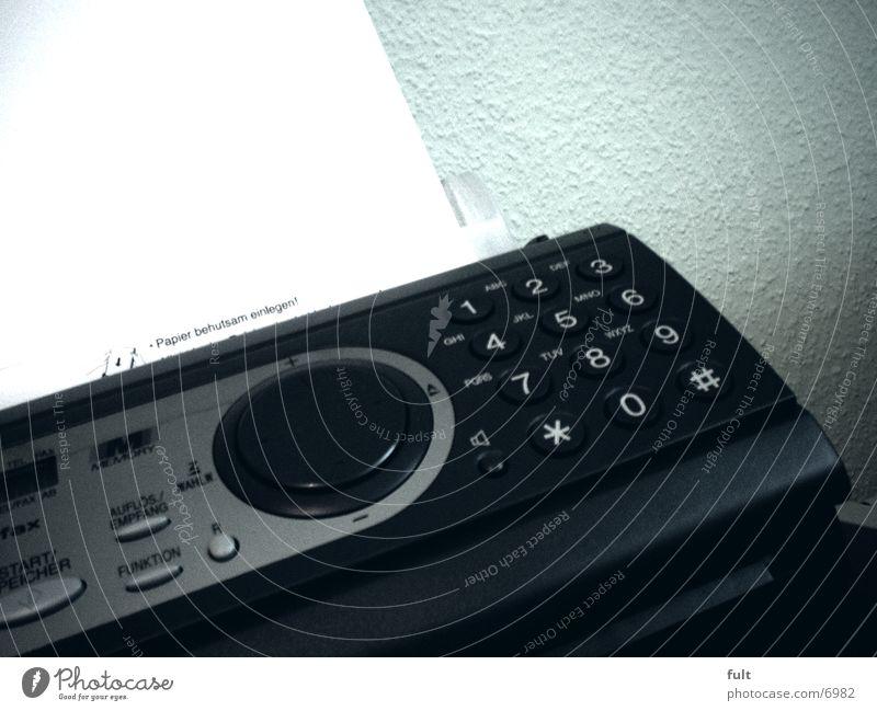 Fax Papier Elektrisches Gerät Technik & Technologie berühren Kunststoff