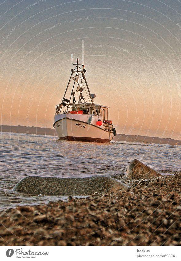frischer Fisch gefällig? Fischer Fischerboot Schifffahrt Wasserfahrzeug See Ostsee