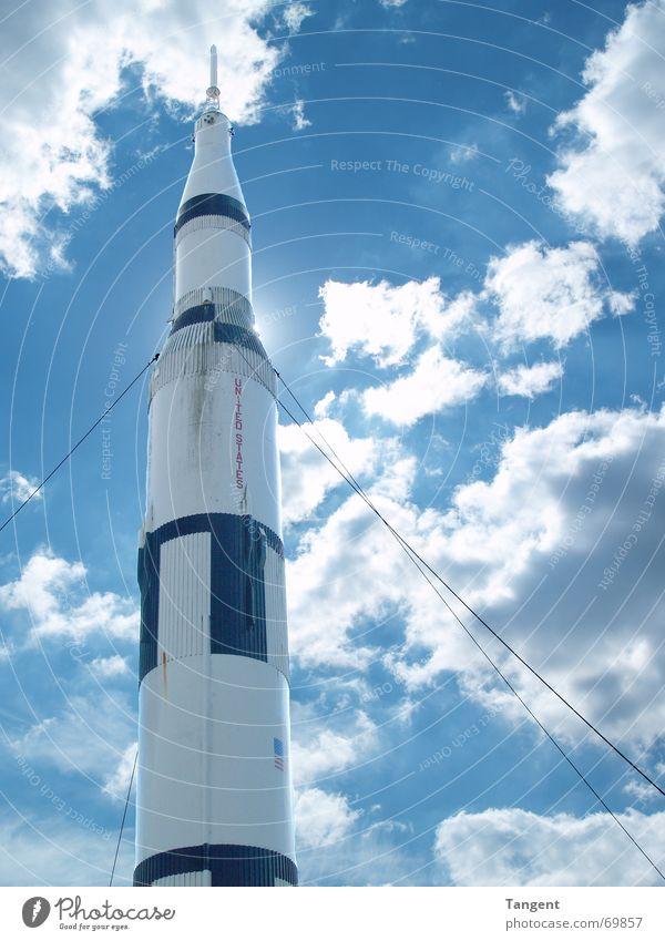 Countdown Himmel Sonne blau Wolken Beginn USA Weltall Geborgenheit Countdown