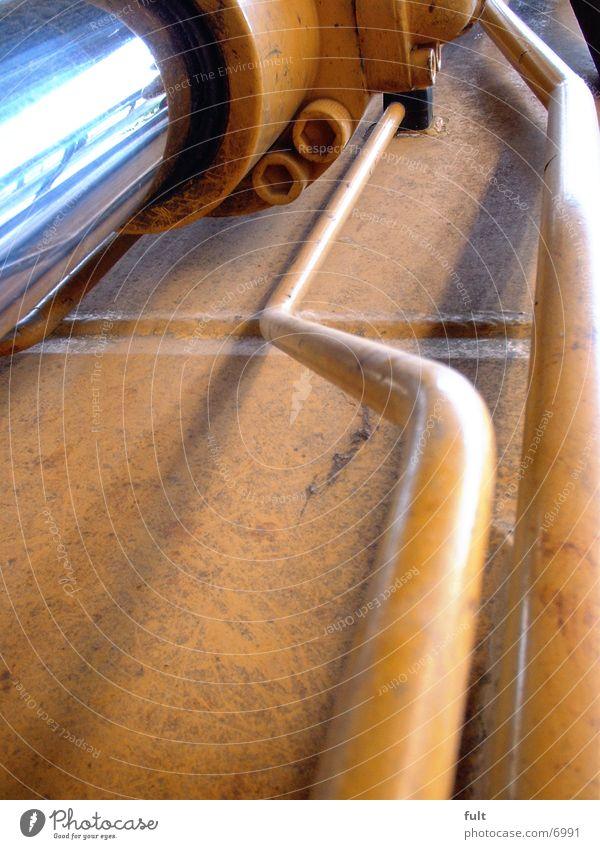 leitungen gelb Metall Industrie Leitung Bagger hydraulisch