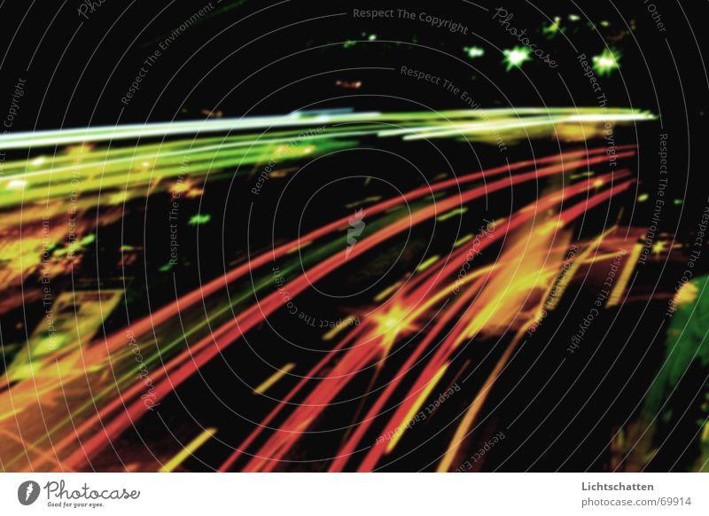 City Straße Geschwindigkeit Nachtaufnahme