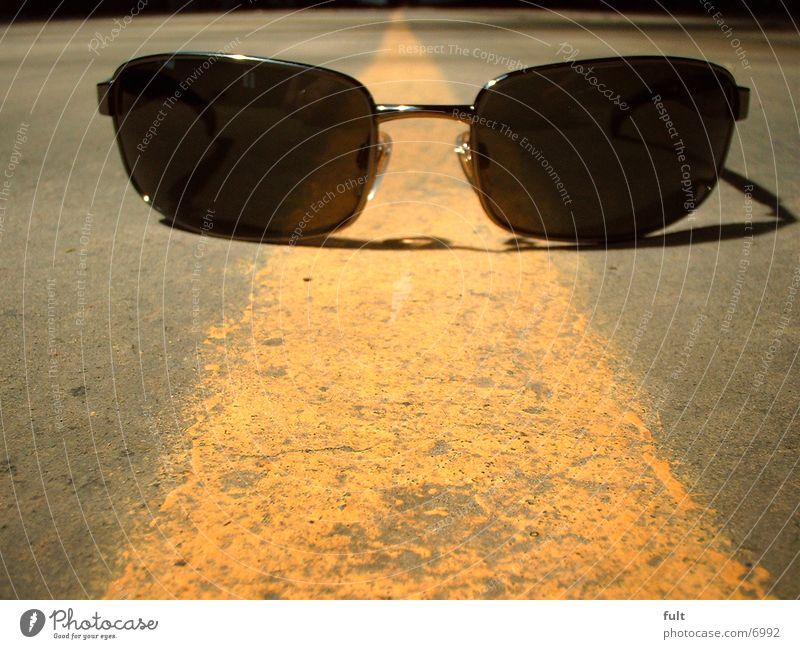 sonnenbrille gelb Linie Brille Streifen Dinge Sonnenbrille