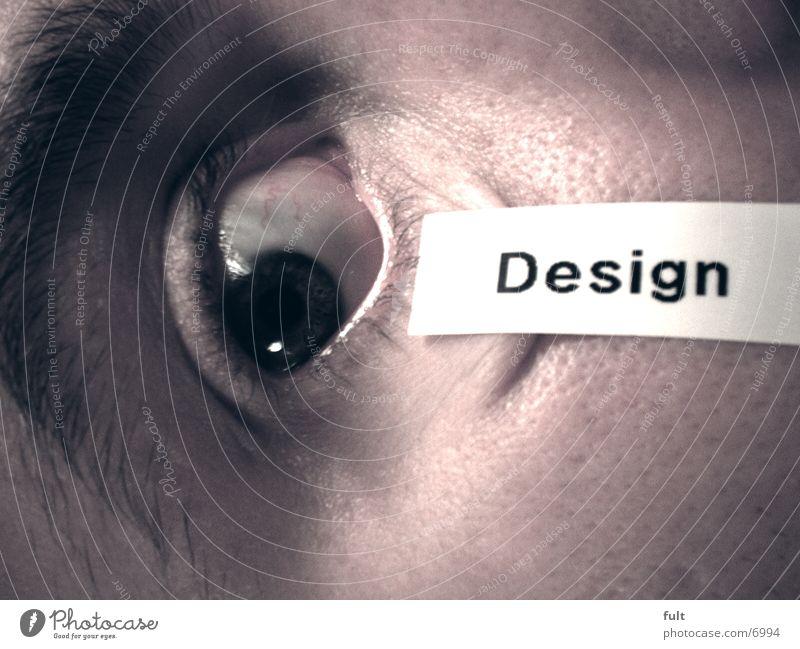 Design Etikett Stil Mann Auge