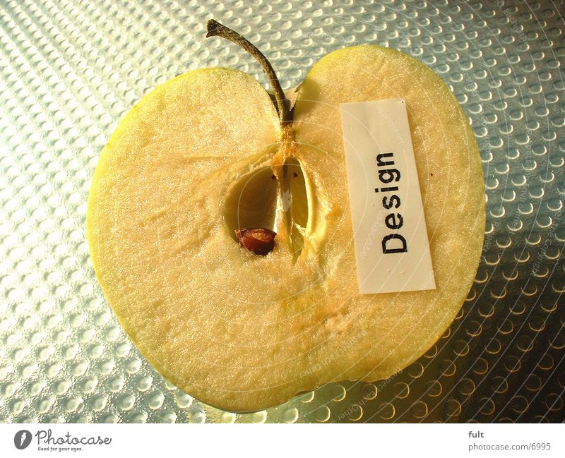 Apfel Design frisch Apfel Hälfte Fototechnik