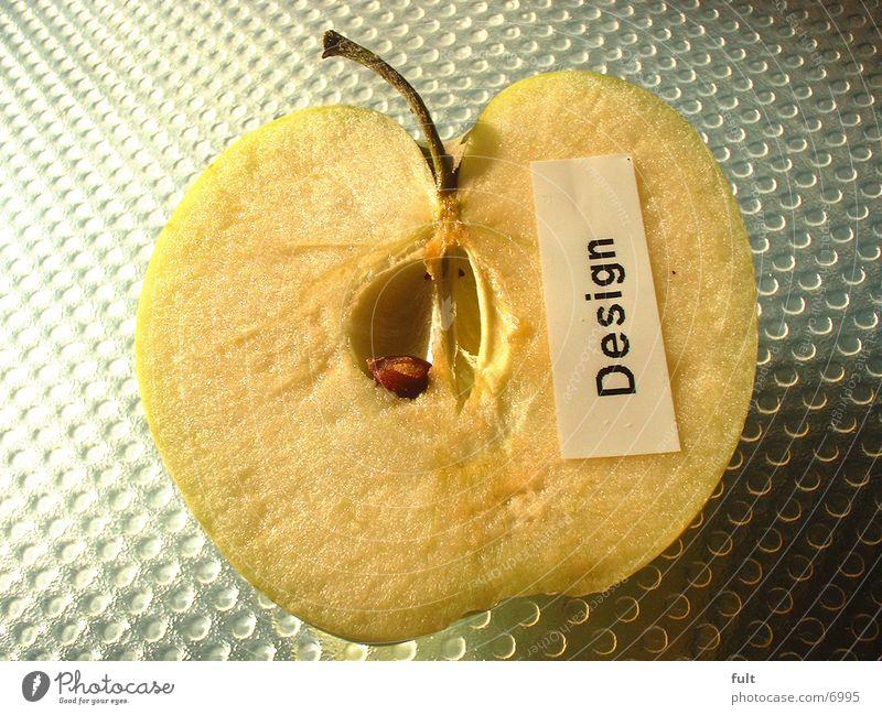 Apfel Design frisch Hälfte Fototechnik