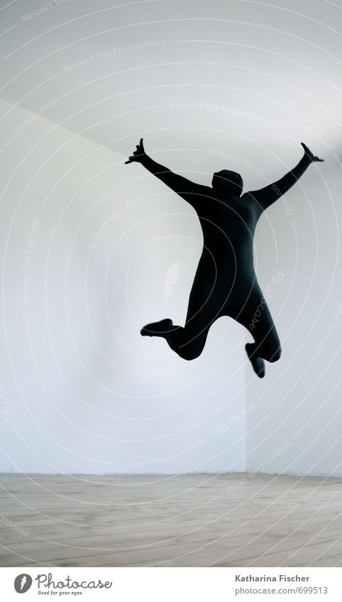 YEAH !! Mensch weiß Freude schwarz Leben Bewegung Sport grau Freiheit Glück außergewöhnlich springen braun Kunst Raum frei