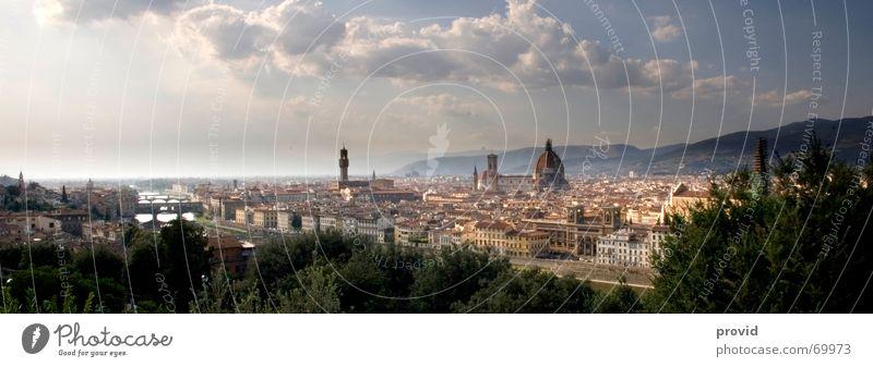 Florenz Stadt Ferien & Urlaub & Reisen Toskana Religion & Glaube Kunst groß Kultur Italien Dom Panorama (Bildformat)