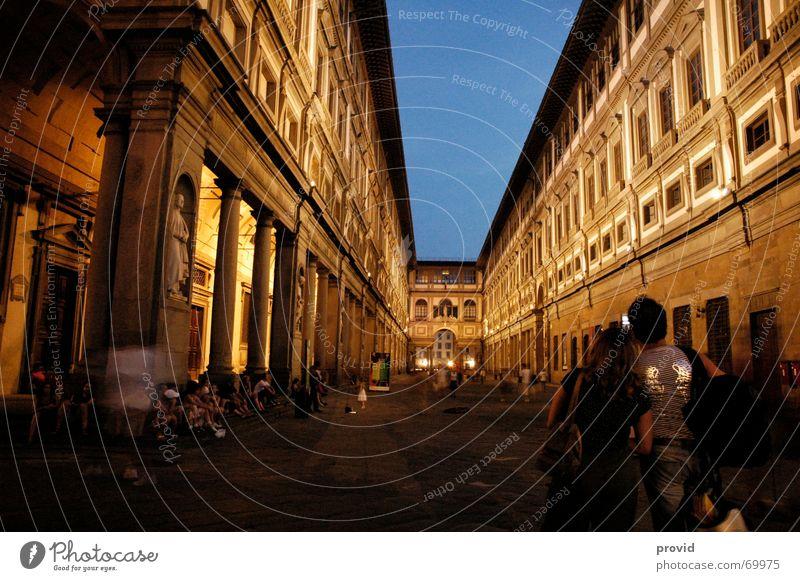 Uffizio Nacht Stadt Ferien & Urlaub & Reisen Kultur Kunst uffizio italien florenz Museum Abend