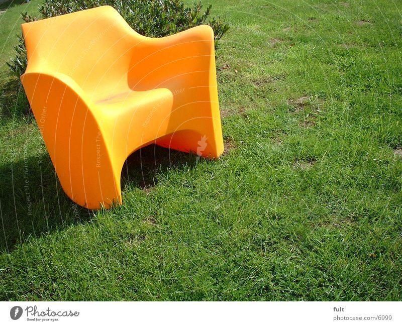 Stuhl Stil Häusliches Leben Rasen orange