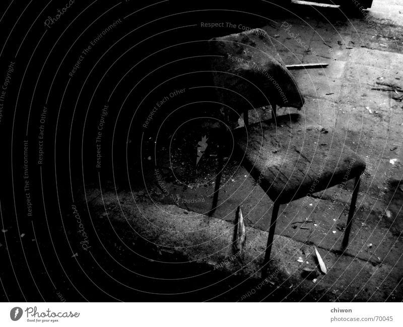 setzen, sechs! alt weiß Einsamkeit Raum dreckig sitzen Stuhl Industriefotografie Brust Leipzig Sitzgelegenheit Mafia Haftstrafe Lebensmittel Vernehmung