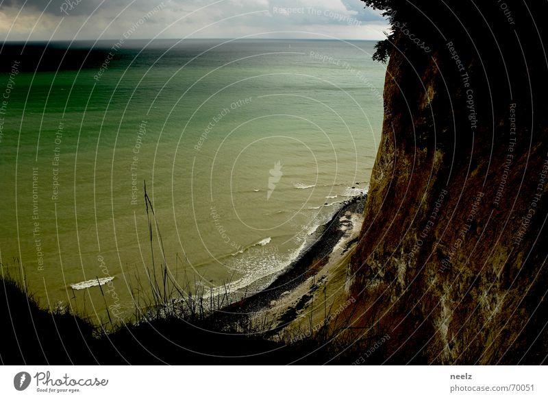 bild Wasser Himmel weiß Meer Strand Wolken Küste Felsen Aussicht Rügen Klippe