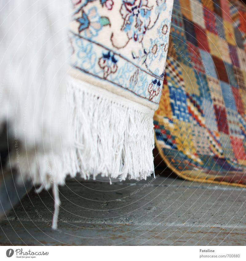 Orient Reichtum Stil Design Häusliches Leben Dekoration & Verzierung hell weich mehrfarbig Teppich Teppichfranse Teppichgeschäft Orientteppich Farbfoto