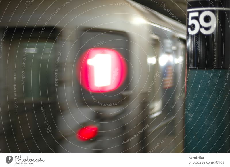 59th street U-Bahn Eisenbahn Eisenbahnwaggon Stahl Untergrund New York City wagon steel Ferien & Urlaub & Reisen Stadt