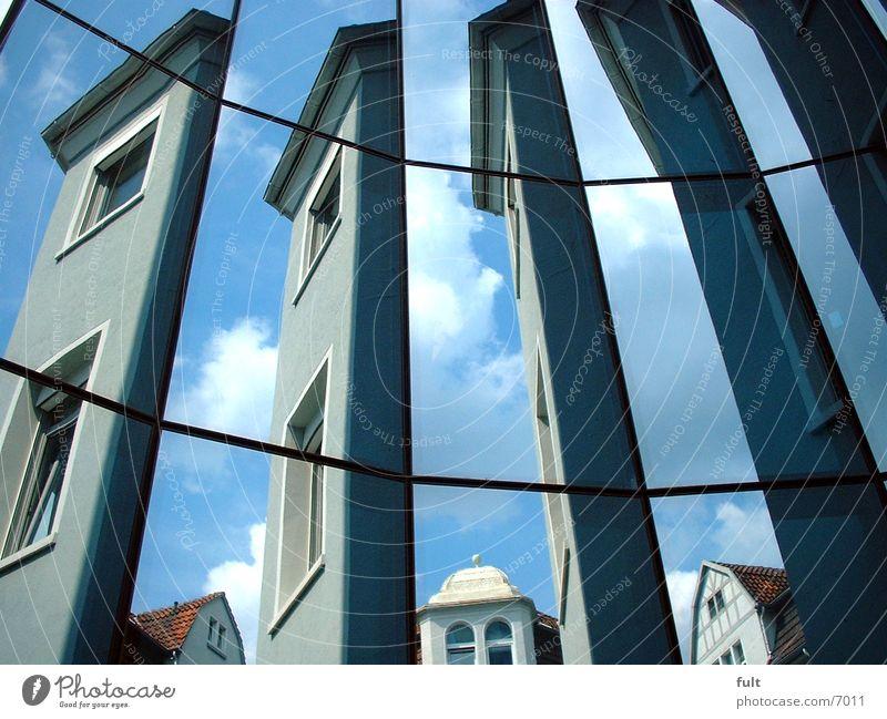 Spiegelfassade Himmel Stil Architektur Glas Spiegel Glasfassade