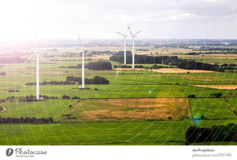 Windkraft strahlt auch Technik & Technologie Fortschritt Zukunft Energiewirtschaft Erneuerbare Energie Windkraftanlage Umwelt Natur Landschaft Sommer Klima
