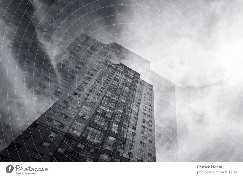 Schwindelanfall Stadt Umwelt Architektur Bewegung Gebäude Zufriedenheit Wetter modern Hochhaus ästhetisch Energie bedrohlich einzigartig Schutz Netzwerk