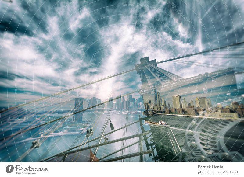 Bridge of Clouds Himmel Ferien & Urlaub & Reisen Stadt Wasser Ferne Umwelt Architektur Gebäude Freiheit Luft Hochhaus Tourismus Ausflug Urelemente Abenteuer USA