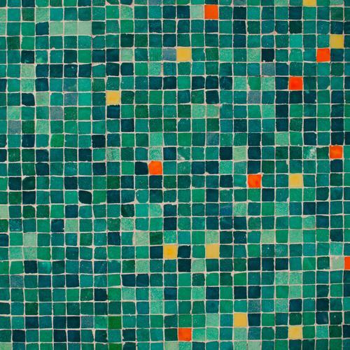 bunter im Quadrat Stil Kunsthandwerk Wand Dekoration & Verzierung Ornament Linie ästhetisch eckig fest viele grün Akzeptanz authentisch Toleranz Farbe innovativ