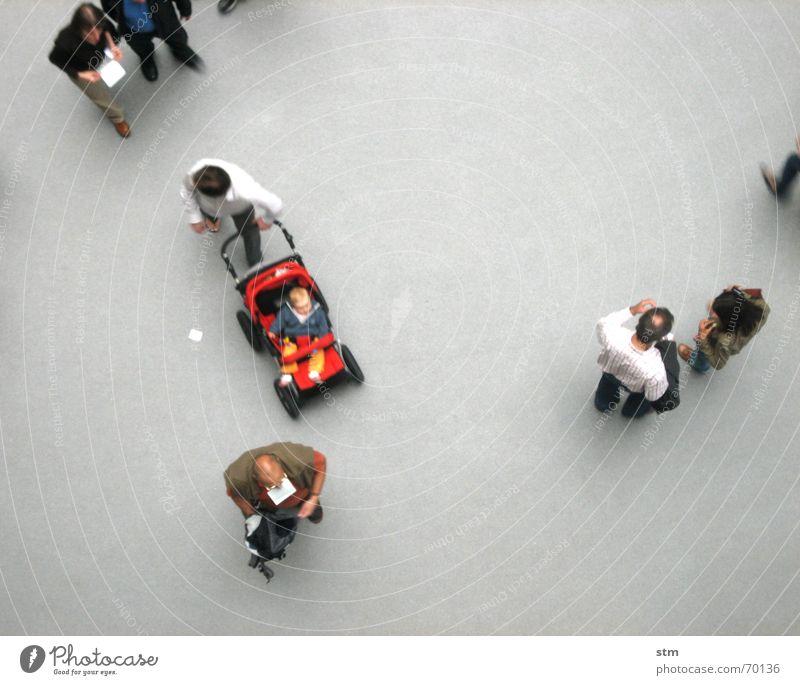 people 05 Mensch sprechen oben grau Menschengruppe Freundschaft Zusammensein gehen warten laufen stehen Studium Spaziergang beobachten Vogelperspektive Niveau
