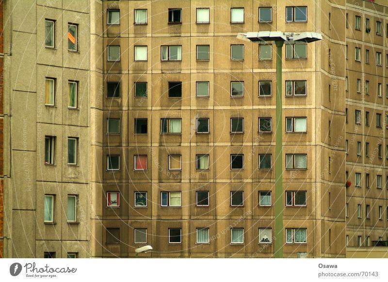 Berliner Bär Fenster Wohnung Beton Fassade Laterne Plattenbau Alexanderplatz Elendsviertel