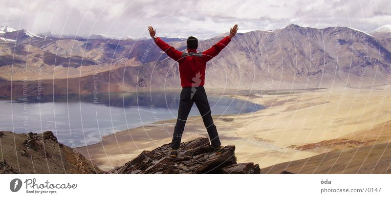 den wolken so nah See Wolken Ferne Indien Tsomoriri Ladakh Bergsteigen Berge u. Gebirge Aussicht Himmel Himalaya karakorum Niveau korzok