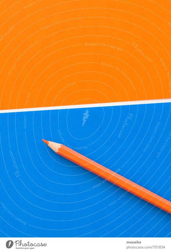 blau Freude sprechen Stil Denken Schule Arbeit & Erwerbstätigkeit Business Lifestyle Büro Design Zufriedenheit Orange lernen Papier Idee
