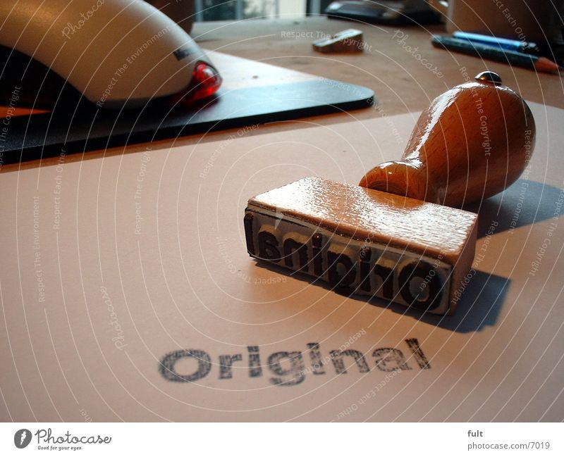 Stempel Originalität Dinge