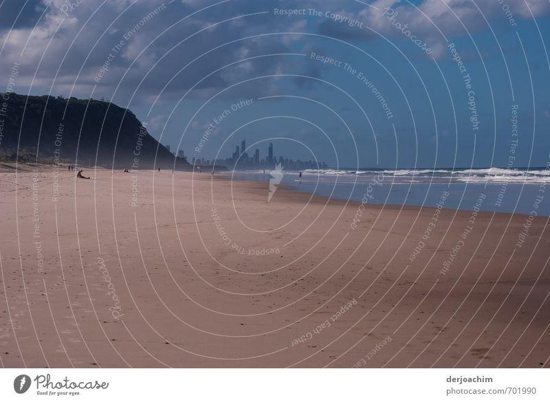Schöne Aussicht Mensch blau Stadt schön Wasser Sommer Erholung Landschaft Wolken Haus Strand Umwelt Küste Sport natürlich Stein