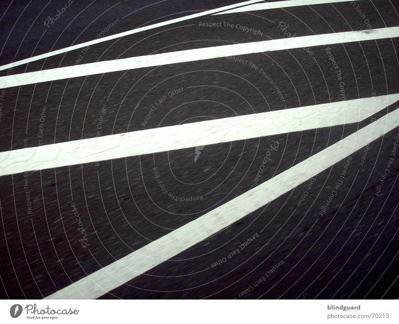 Diagonal Linear weiß Straße dunkel Stein Linie Verkehr diagonal Neigung Verbote Teer Straßenverkehr gepanzert Abrieb Straßenverkehrsordnung absolut