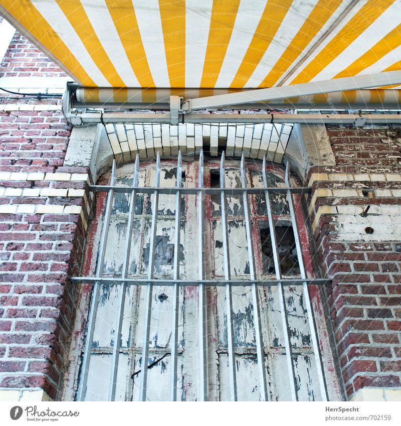 Cocooning Antwerpen Belgien Stadt Altstadt Haus Bauwerk Gebäude Mauer Wand Fassade Fenster Häusliches Leben alt trashig trist Angst Vergänglichkeit Gitter