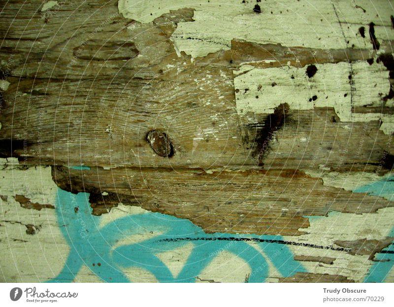 making the nature scene II alt Farbe Holz Hintergrundbild verfaulen verfallen Verfall schäbig Material Holzbrett Oberfläche verwittert abblättern Maserung
