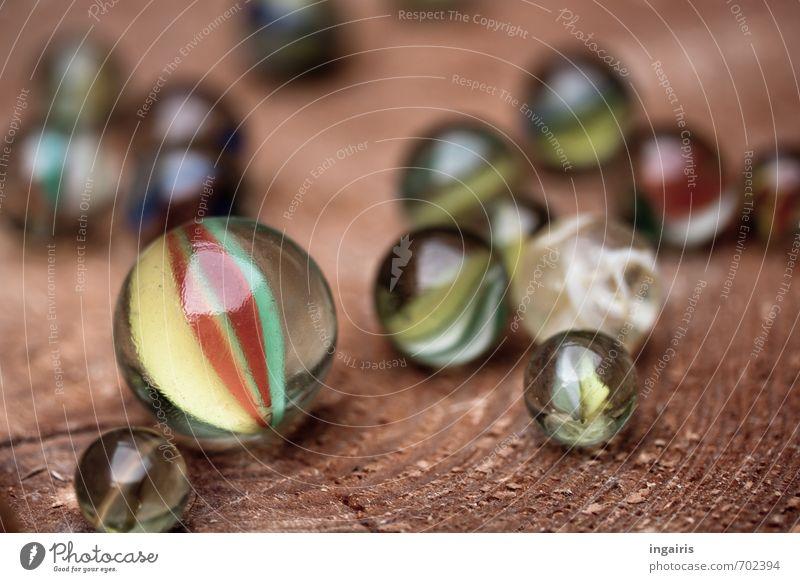 Klicker Freizeit & Hobby Spielen Kinderspiel Glasmurmel Murmel Bewegung glänzend rund mehrfarbig Freude Holzbrett rollen Knackfrosch Glasperle Glaskugel