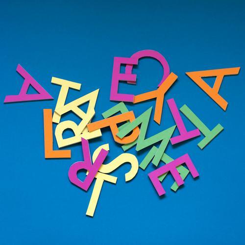 TALASNEBATSHCUB blau grün gelb rosa Schule Freizeit & Hobby orange wild Schriftzeichen verrückt lernen Papier Buchstaben lesen Bildung türkis