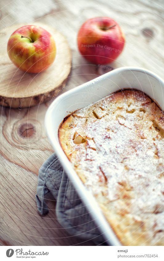 Apfel-Pfannkuchen aus dem Ofen Kuchen Dessert Süßwaren Ernährung Büffet Brunch Slowfood lecker süß Farbfoto Innenaufnahme Menschenleer Tag