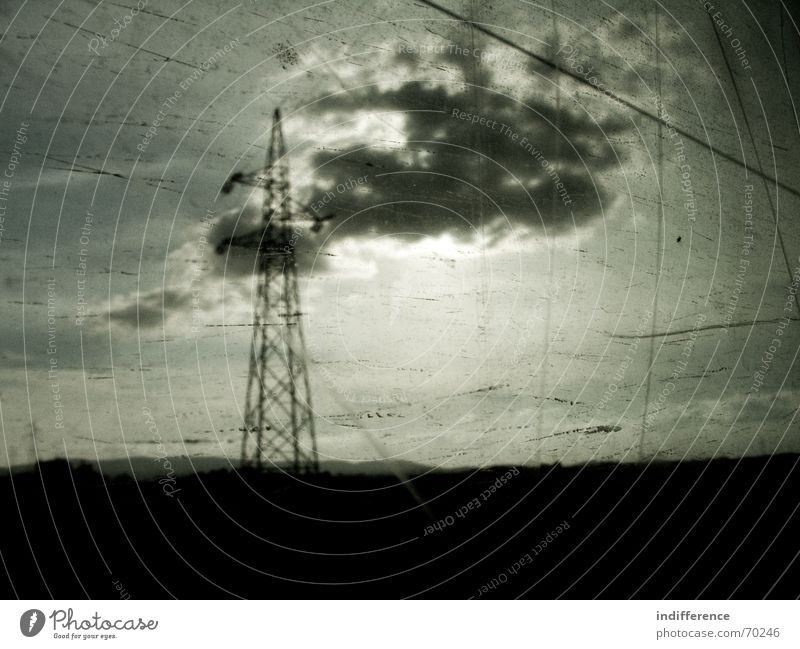 through the window serie Himmel darkness clouds train sky black obscure dirty sun