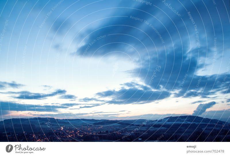 it's getting colder Himmel Natur blau Landschaft kalt Umwelt Hügel Nachthimmel
