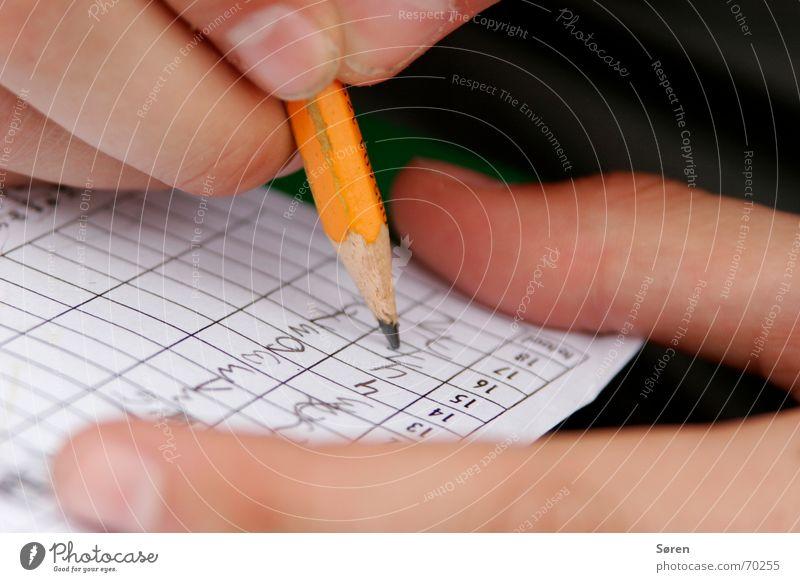 SCHREIB ES AUF! schreiben Bleistift Zettel Finger Minigolf Kniffel Block Spielen Ziffern & Zahlen Erfolg 18 loch billanz
