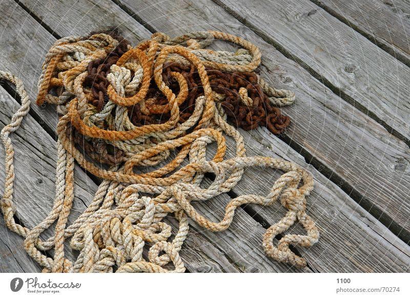 Seile&Ketten Holz Seil Hafen Schnur Steg Anlegestelle Kette