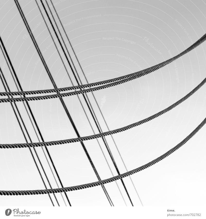 beschwingt Schifffahrt Segelschiff Seil Linie elegant hoch maritim ästhetisch Bewegung Partnerschaft Identität Idylle Inspiration Ordnung Präzision Zusammenhalt