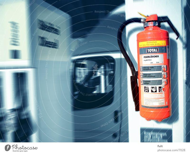 Feuerlöscher rot Elektrisches Gerät Technik & Technologie Shell