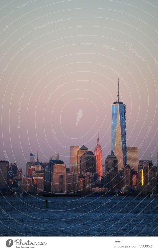 Manhattan Skyline | One World Trade Center New York City Stars and Stripes Stadt Stadtzentrum überbevölkert Hochhaus Bankgebäude Bauwerk Gebäude Architektur