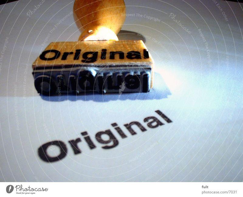 Original Papier Originalität Stempel