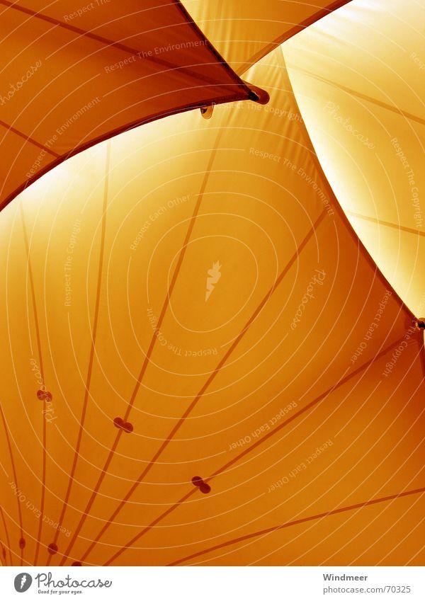 Orange gelb Regen orange Wellen Ecke Dach Schutz Streifen Bogen Lamelle Schutzdach