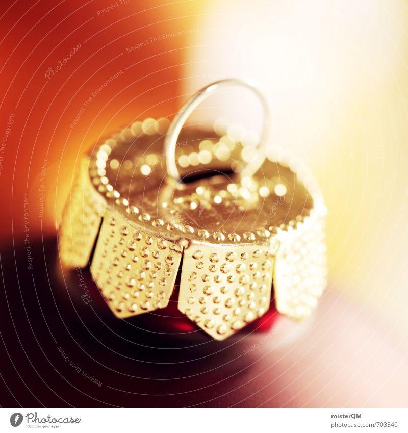 Weihnachten steht vor der Tür... Weihnachten & Advent rot Kunst gold Zufriedenheit Dekoration & Verzierung ästhetisch Kugel Tradition Christbaumkugel