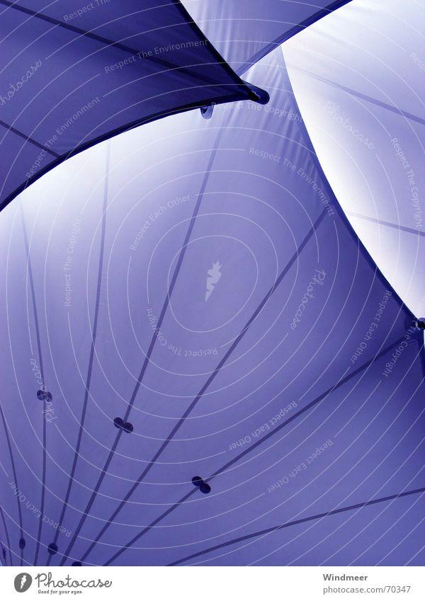 Violett blau Regen Wellen Ecke Dach violett Schutz Streifen Bogen Lamelle Schutzdach