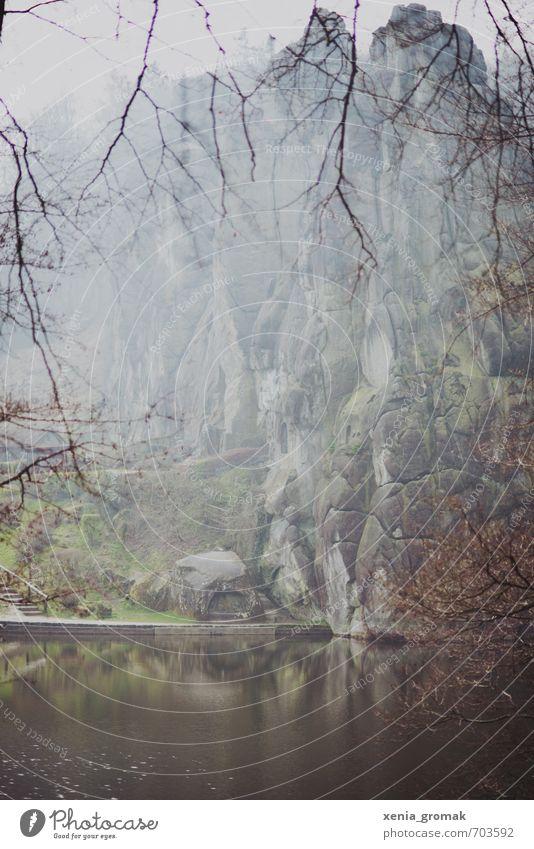Externsteine Himmel Natur Ferien & Urlaub & Reisen Pflanze Baum Landschaft Ferne Wald Berge u. Gebirge Umwelt Garten Freiheit See Felsen Park Freizeit & Hobby