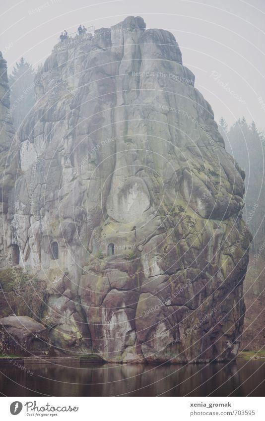 Externsteine Himmel Natur Ferien & Urlaub & Reisen Pflanze Landschaft Ferne Wald Umwelt Berge u. Gebirge Wiese Freiheit See Felsen Park Freizeit & Hobby