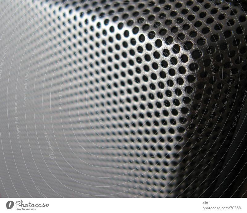 Speaker Lautsprecher Makroaufnahme speaker corner deep Metall Ecke