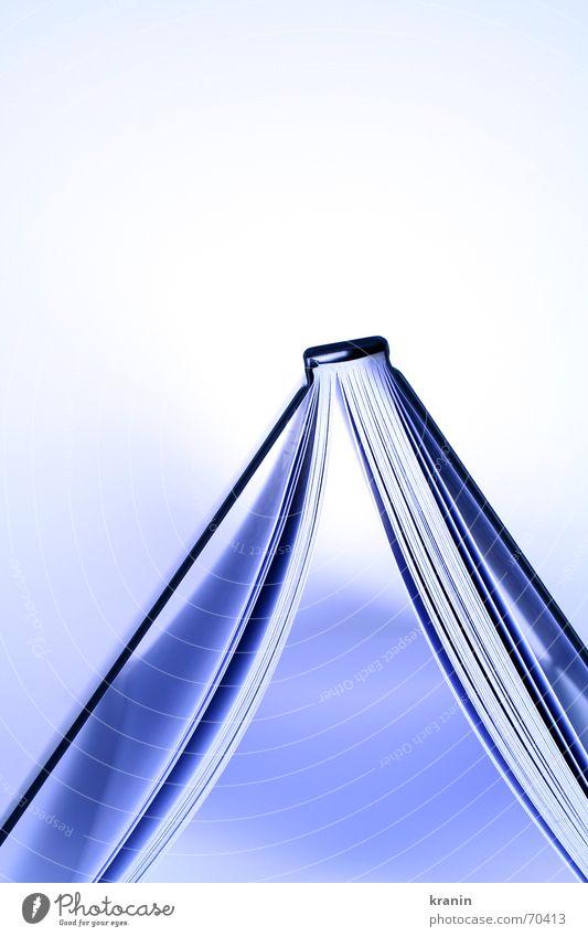 Durchblick blau Buch Papier lesen Seite Zettel Medien Licht & Schatten