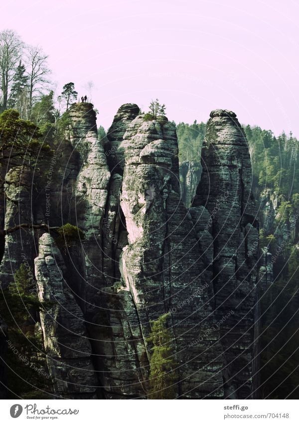 Postkartenmotiv IV Natur Ferien & Urlaub & Reisen Landschaft Ferne Berge u. Gebirge Freiheit außergewöhnlich Felsen groß Tourismus wandern ästhetisch Ausflug